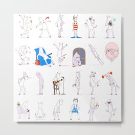 Stewball: Emojis Metal Print