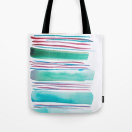 6   |181026 Lines & Color Block | Watercolor Abstract | Modern Watercolor Art Tote Bag