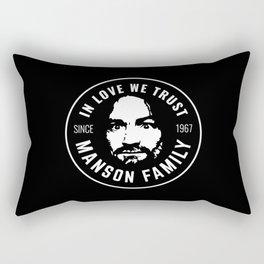 Manson Family - In Love We Trust Rectangular Pillow