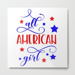 All American girl Metal Print