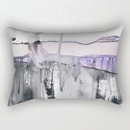 Pastel pink grey, abstract watercolor, washed colors, mixed media Rectangular Pillow