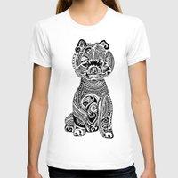 pomeranian T-shirts featuring Polynesian Pomeranian by Huebucket