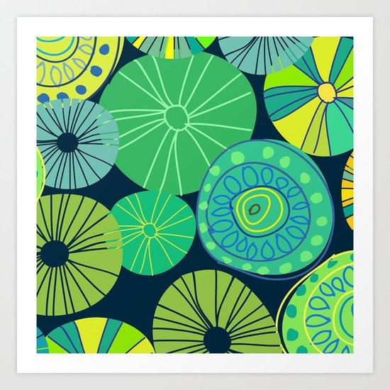 green party Art Print