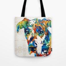 Colorful Great Dane Art Dog By Sharon Cummings Tote Bag