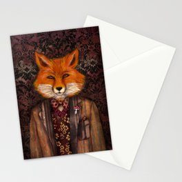 Portrait of the mysterious Lord Fox Stationery Cards