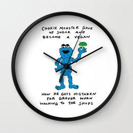 VEGAN COOKIE MONSTER Wall Clock