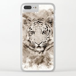 Tiger 4 Clear iPhone Case