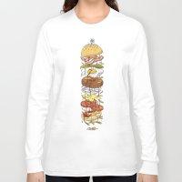 burger Long Sleeve T-shirts featuring Burger by Duke.Doks