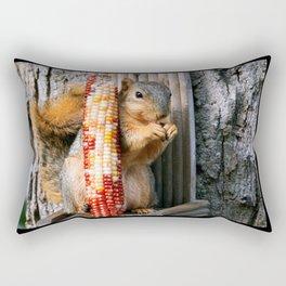 Indian Corn Squirrel Rectangular Pillow