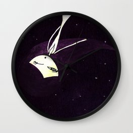Moonless night Wall Clock