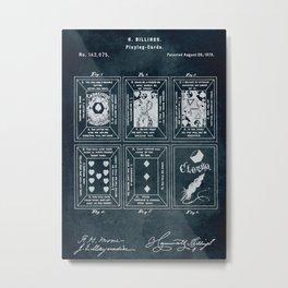 1873 - Playing-cards patent art Metal Print