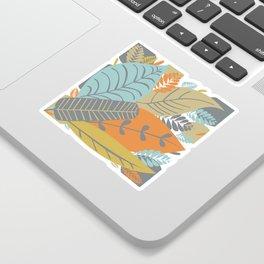 Bright Tropical Leaf Retro Mid Century Modern Sticker