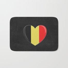 Heart Goes to Belgium Bath Mat