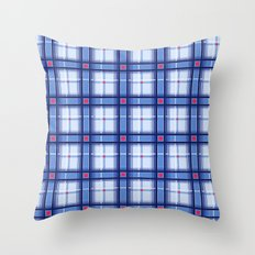Blue Plaid Throw Pillow