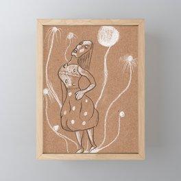 Moon dance Framed Mini Art Print