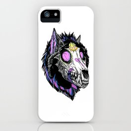 Hypnotic Wolf Skull iPhone Case