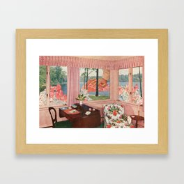 Outside Framed Art Print
