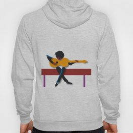"""""""Guitarist"""" by Paulette Lust contemporary, original, colorful, whimsical, art. Hoody"""