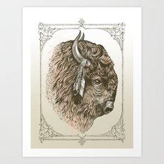 Buffalo Portrait Art Print