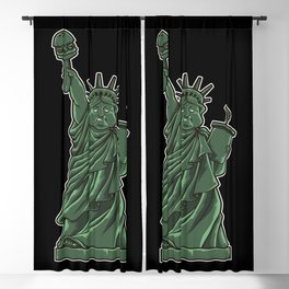 Fat Lady Liberty | Fast Food Society Hamburger Blackout Curtain