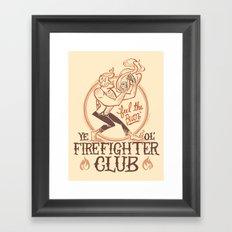 Firefighter Club Framed Art Print