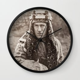 Lawrence of Arabia Portrait Wall Clock