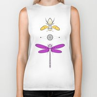 insects Biker Tanks featuring Two Insects by Ukko