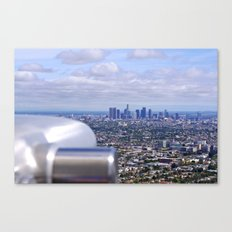 Peeping into Downtown Canvas Print