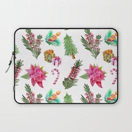 Christmas Pattern with Australian Native Bottlebrush Flowers Laptop Sleeve
