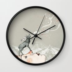 Deer Lady! Wall Clock