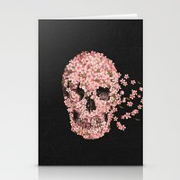 surrealism Stationery Cards featuring A Beautiful Death  by Terry Fan