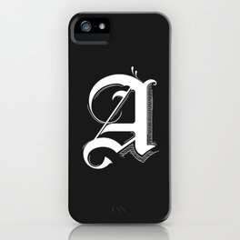 Letter A iPhone Case