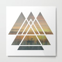 Sacred Geometry Triangles - Magical Misty Nature Metal Print