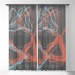 Abstract Contours Sheer Curtain