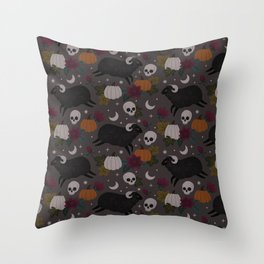 Spooky Halloween Sheep Throw Pillow