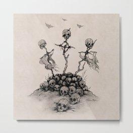 Skulls & Crosses - Pirate Conquest Metal Print