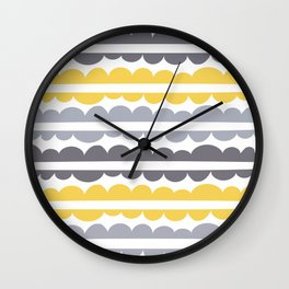 Mordidas Primrose Yellow Wall Clock