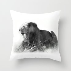 Lion in the Sunshine Throw Pillow