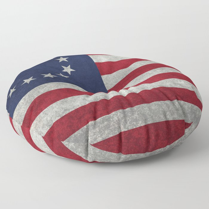 USA Betsy Ross flag - Vintage Retro Style Floor Pillow