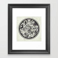 Circle Doodle Framed Art Print