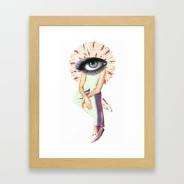 Eye Framed Art Print