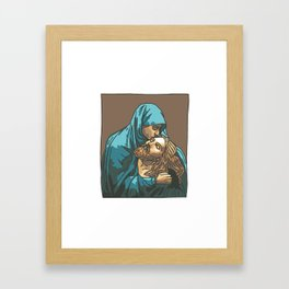 Mary Holding Jesus (Pieta) Framed Art Print