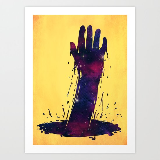 I want to hold your hand, from across the universe Art Print