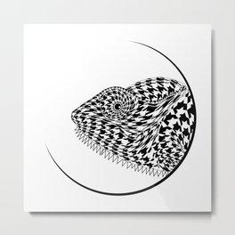 The Chameleon (Houndstooth) Metal Print