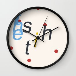 the shit (dotted blue) Wall Clock