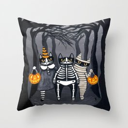 The Trick or Treat Gang Throw Pillow