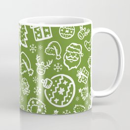 XMAS Green Pattern / Part One Coffee Mug