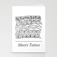 maori Stationery Cards featuring Maori Tattoo by Harvey Depp