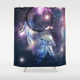 Cosmic Dreamcatcher design Shower Curtain