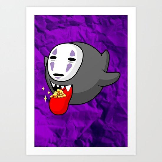 Faceless Boo Art Print